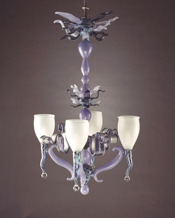 custom artistic glass chandeliers